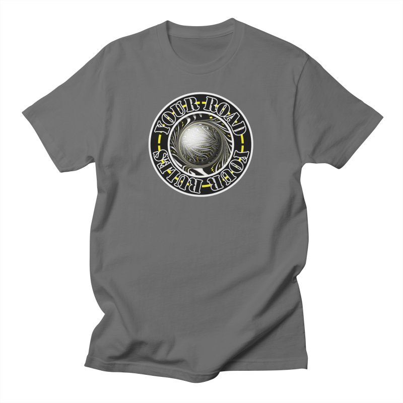 Travel Lover's Motto of Your Road, Your Rules Men's T-Shirt by The Fractal Art of San Jaya Prime