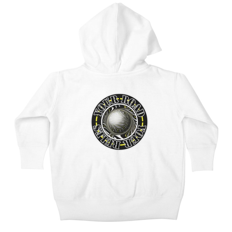 Travel Lover's Motto of Your Road, Your Rules Kids Baby Zip-Up Hoody by The Fractal Art of San Jaya Prime