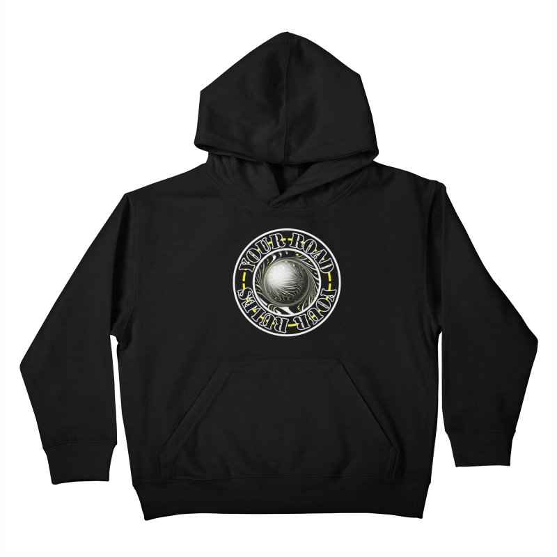 Travel Lover's Motto of Your Road, Your Rules Kids Pullover Hoody by The Fractal Art of San Jaya Prime
