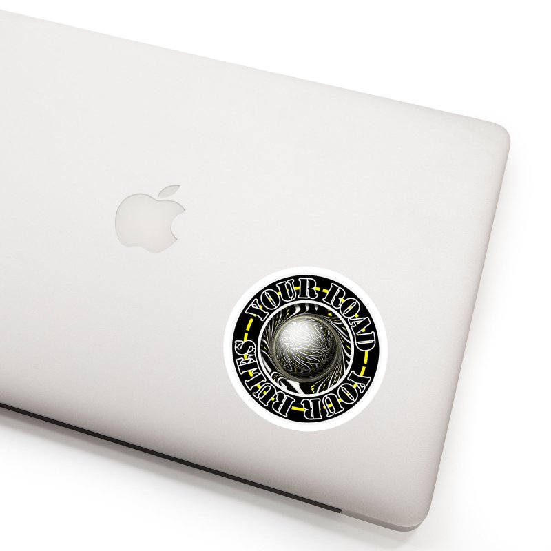 Travel Lover's Motto of Your Road, Your Rules Accessories Sticker by The Fractal Art of San Jaya Prime