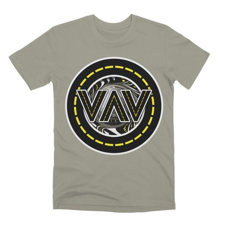 The Fractal Roads of Vans and Villains in VanLife Men's T-Shirt by The Fractal Art of San Jaya Prime