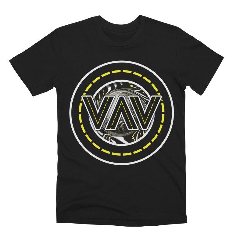 The Fractal Roads of Vans and Villains in VanLife Men's Premium T-Shirt by The Fractal Art of San Jaya Prime