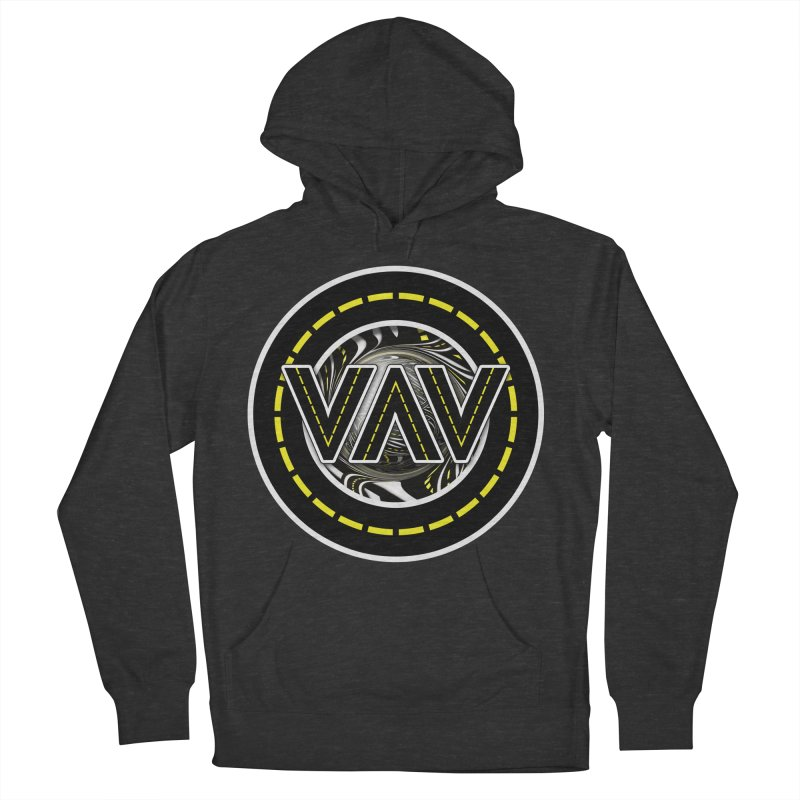 The Fractal Roads of Vans and Villains in VanLife Women's French Terry Pullover Hoody by The Fractal Art of San Jaya Prime