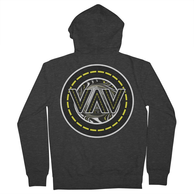 The Fractal Roads of Vans and Villains in VanLife Women's French Terry Zip-Up Hoody by The Fractal Art of San Jaya Prime