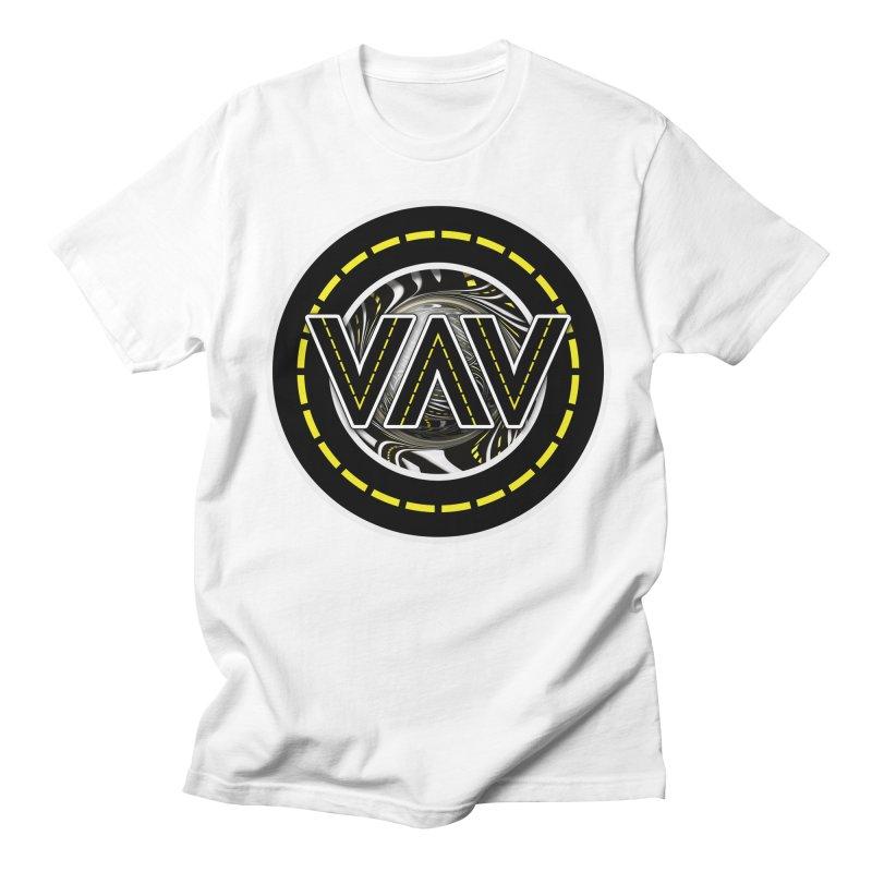 The Fractal Roads of Vans and Villains in VanLife Men's Regular T-Shirt by The Fractal Art of San Jaya Prime