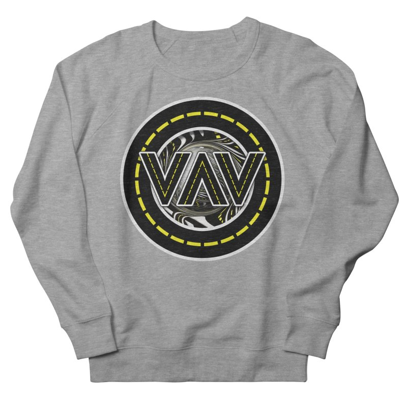 The Fractal Roads of Vans and Villains in VanLife Women's French Terry Sweatshirt by The Fractal Art of San Jaya Prime