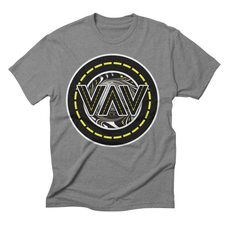 The Fractal Roads of Vans and Villains in VanLife Men's Triblend T-Shirt by The Fractal Art of San Jaya Prime