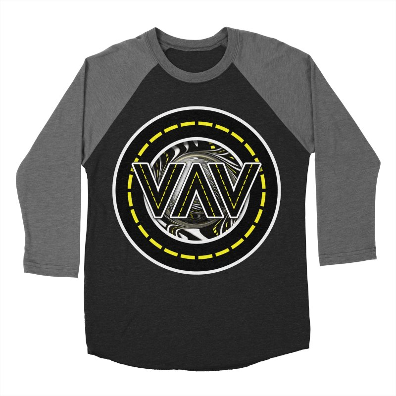 The Fractal Roads of Vans and Villains in VanLife Men's Baseball Triblend Longsleeve T-Shirt by The Fractal Art of San Jaya Prime