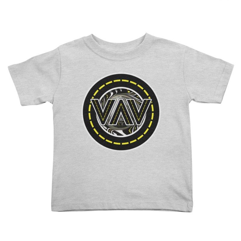 The Fractal Roads of Vans and Villains in VanLife Kids Toddler T-Shirt by The Fractal Art of San Jaya Prime