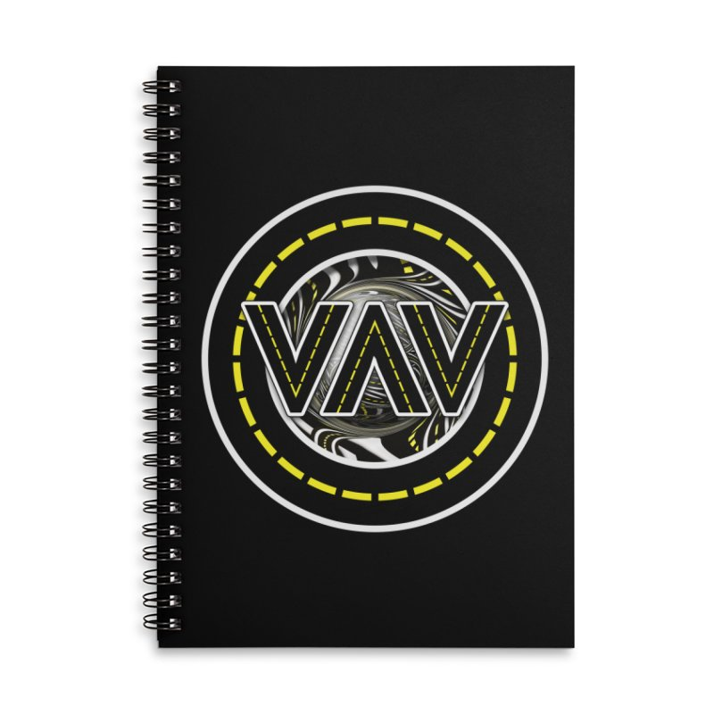 The Fractal Roads of Vans and Villains in VanLife Accessories Lined Spiral Notebook by The Fractal Art of San Jaya Prime