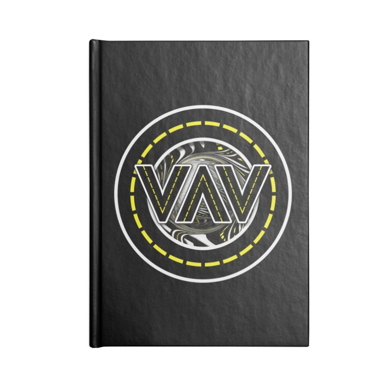 The Fractal Roads of Vans and Villains in VanLife Accessories Lined Journal Notebook by The Fractal Art of San Jaya Prime