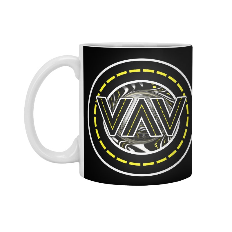 The Fractal Roads of Vans and Villains in VanLife Accessories Standard Mug by The Fractal Art of San Jaya Prime
