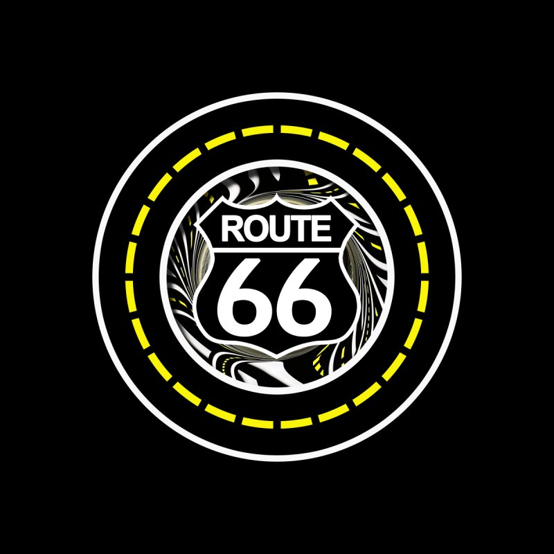 An Infinite Fractal Road on the Legendary Route 66 Accessories Sticker by The Fractal Art of San Jaya Prime