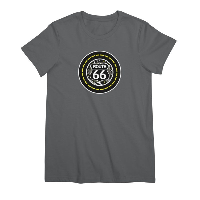 An Infinite Fractal Road on the Legendary Route 66 Women's Premium T-Shirt by The Fractal Art of San Jaya Prime