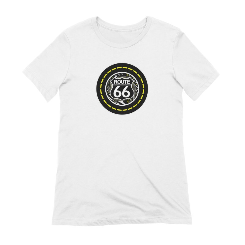An Infinite Fractal Road on the Legendary Route 66 Women's Extra Soft T-Shirt by The Fractal Art of San Jaya Prime