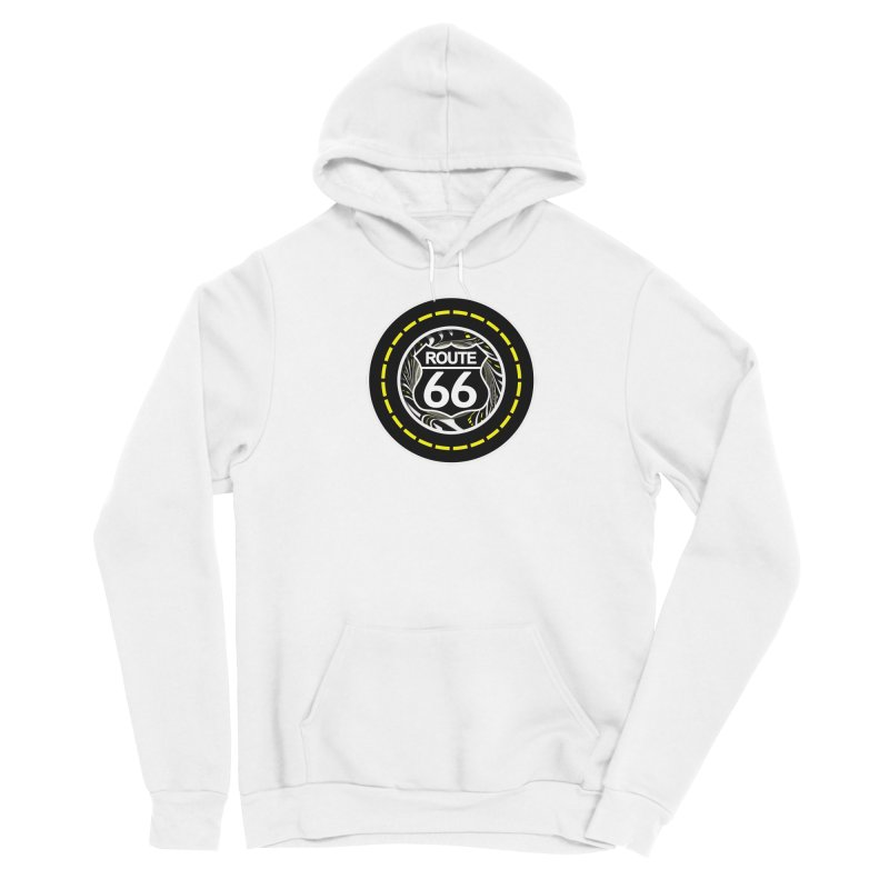 An Infinite Fractal Road on the Legendary Route 66 Women's Pullover Hoody by The Fractal Art of San Jaya Prime