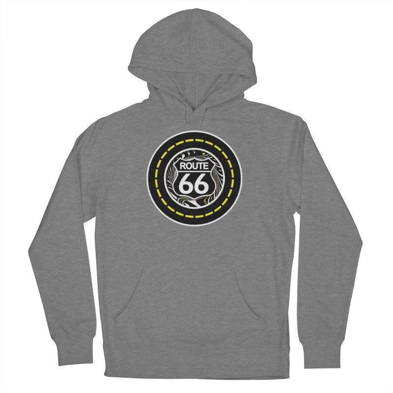 An Infinite Fractal Road on the Legendary Route 66 Women's French Terry Pullover Hoody by The Fractal Art of San Jaya Prime