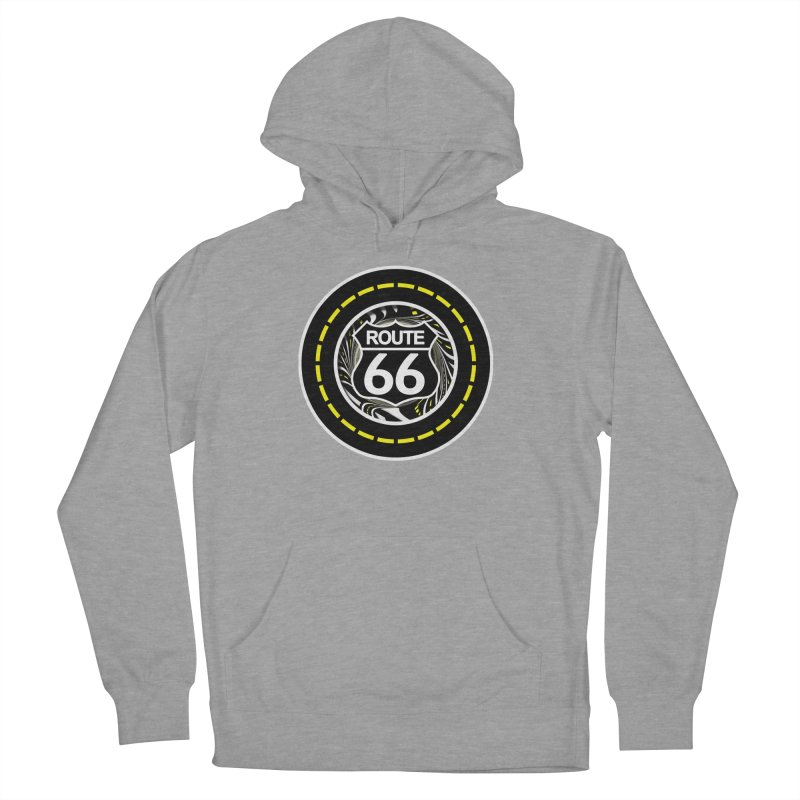 An Infinite Fractal Road on the Legendary Route 66 Men's French Terry Pullover Hoody by The Fractal Art of San Jaya Prime