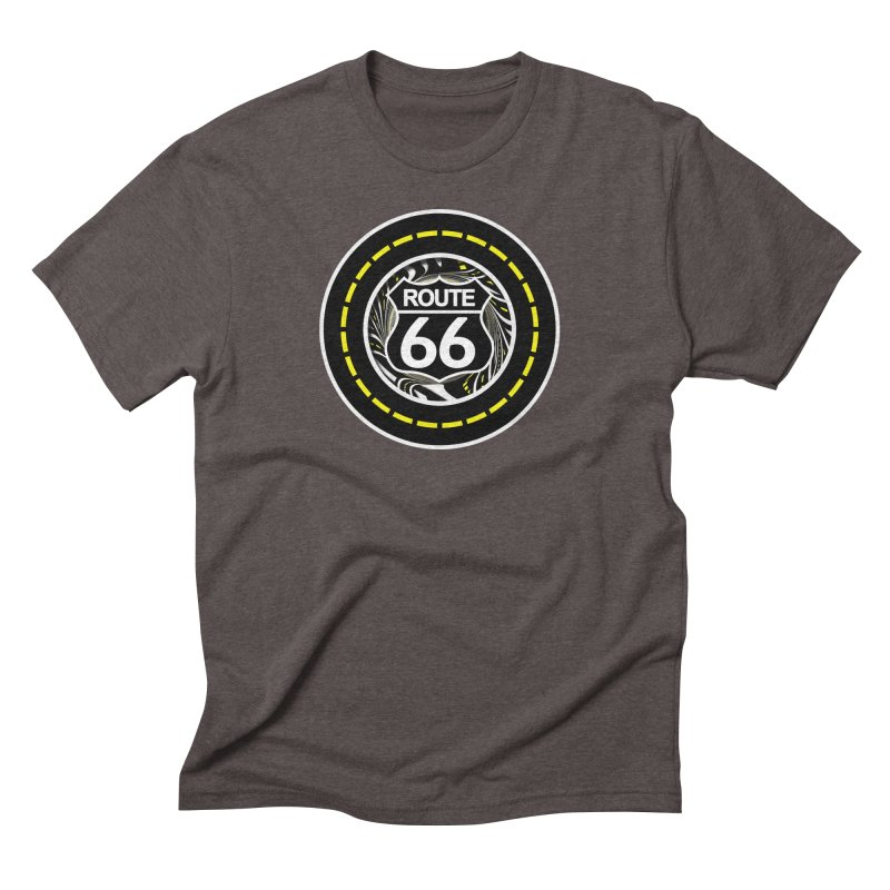 An Infinite Fractal Road on the Legendary Route 66 Men's Triblend T-Shirt by The Fractal Art of San Jaya Prime