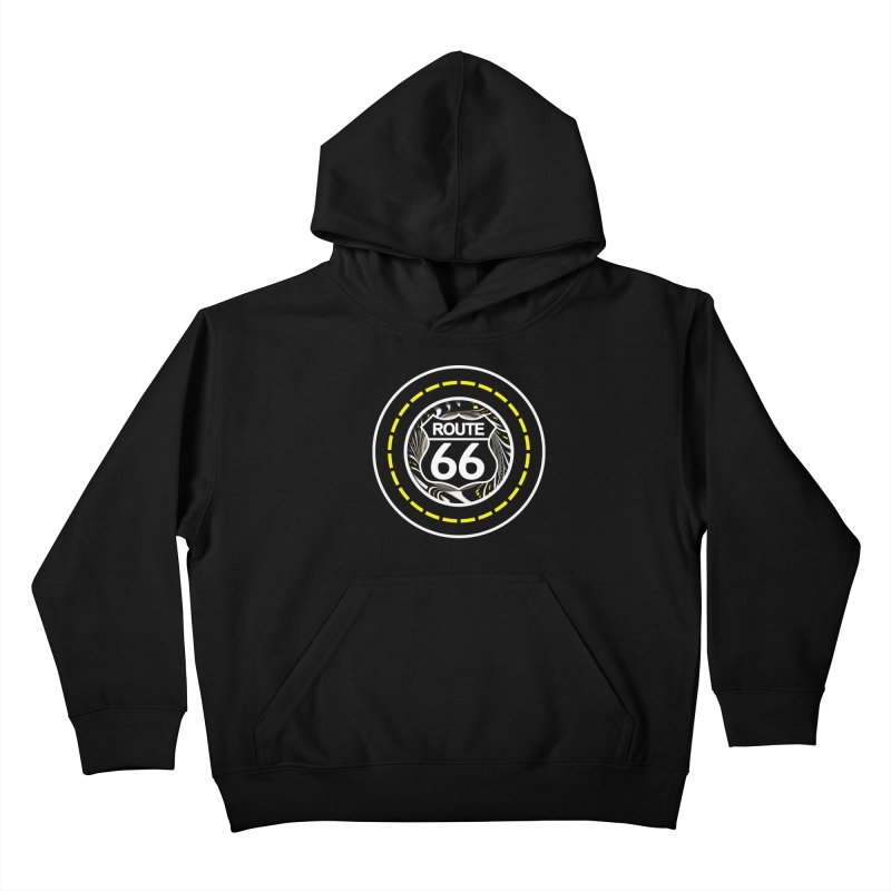 An Infinite Fractal Road on the Legendary Route 66 Kids Pullover Hoody by The Fractal Art of San Jaya Prime