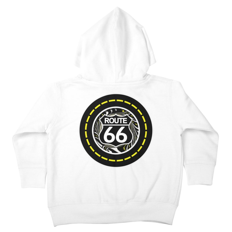 An Infinite Fractal Road on the Legendary Route 66 Kids Toddler Zip-Up Hoody by The Fractal Art of San Jaya Prime