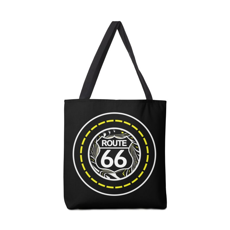 An Infinite Fractal Road on the Legendary Route 66 Accessories Tote Bag Bag by The Fractal Art of San Jaya Prime