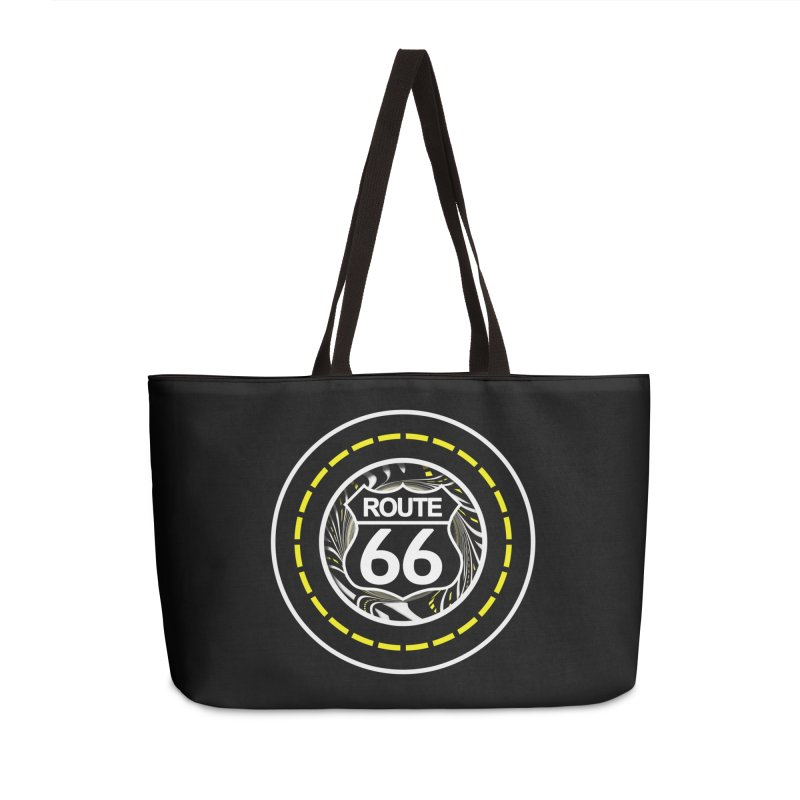 An Infinite Fractal Road on the Legendary Route 66 Accessories Weekender Bag Bag by The Fractal Art of San Jaya Prime
