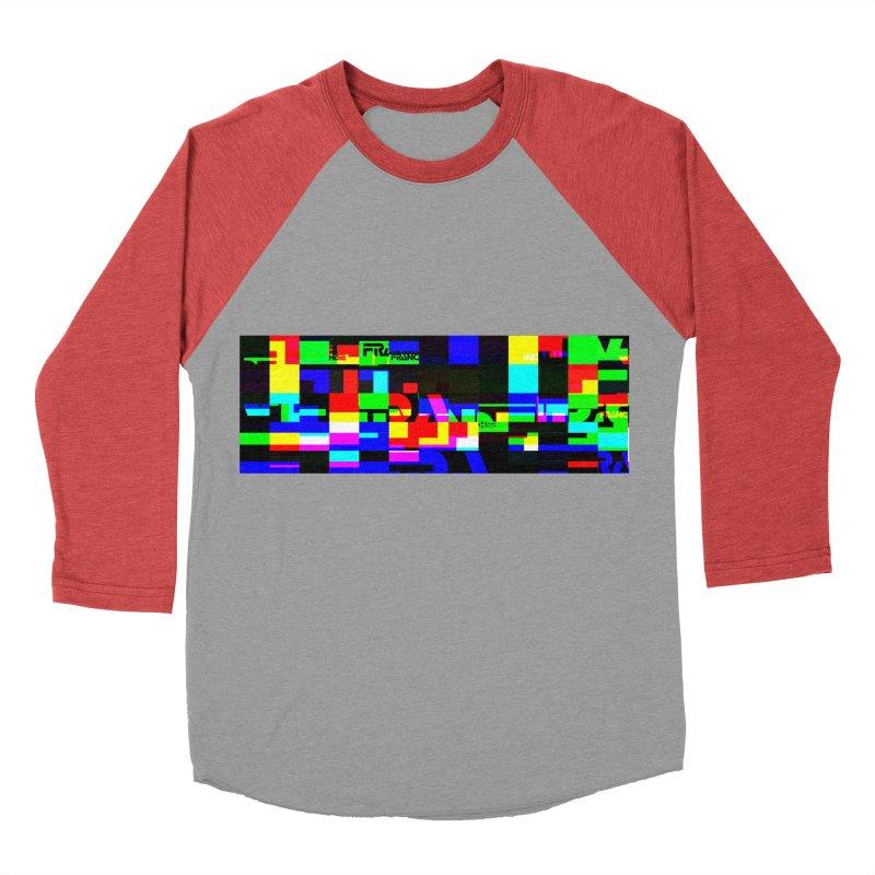 Franchise Glitch Men's Baseball Triblend Longsleeve T-Shirt by Franchise Merchandise