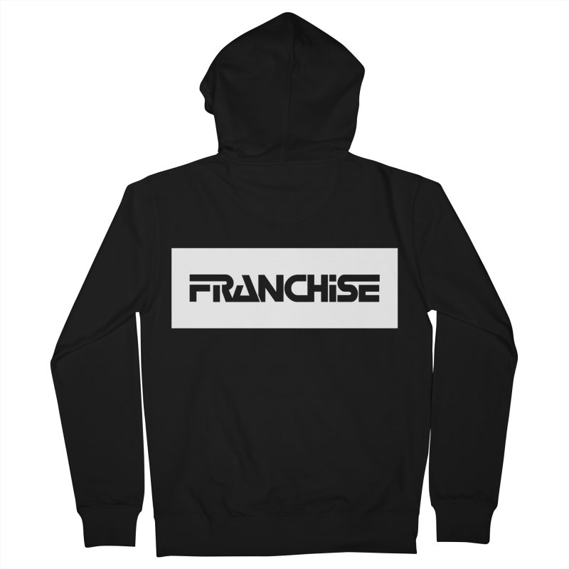 Franchise with White Border Men's French Terry Zip-Up Hoody by Franchise Merchandise
