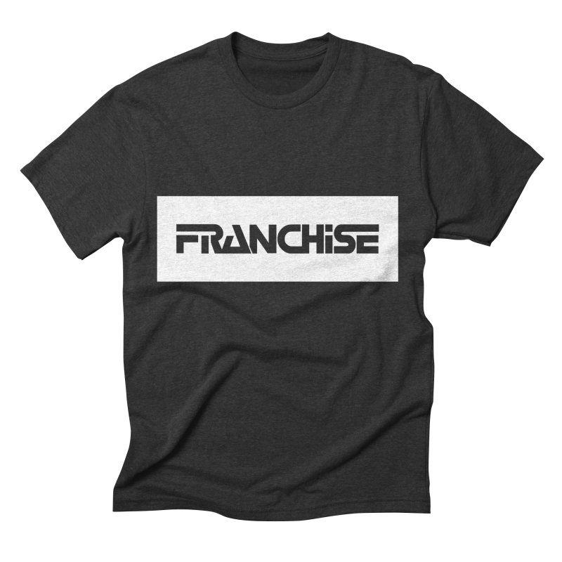Franchise with White Border Men's Triblend T-Shirt by Franchise Merchandise