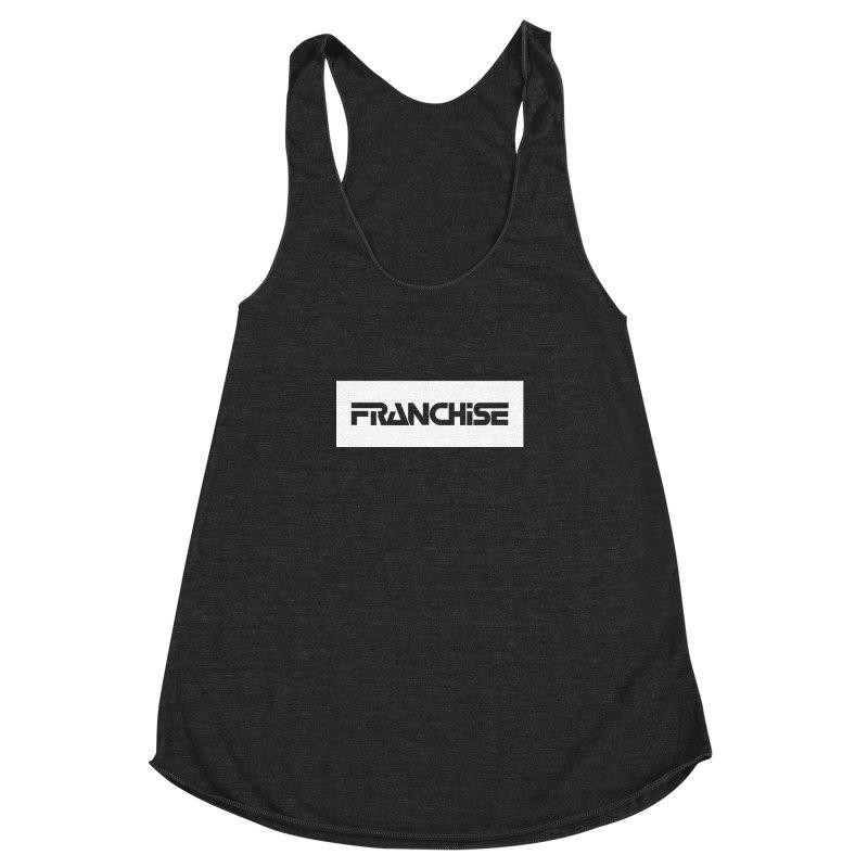 Franchise with White Border Women's Racerback Triblend Tank by Franchise Merchandise