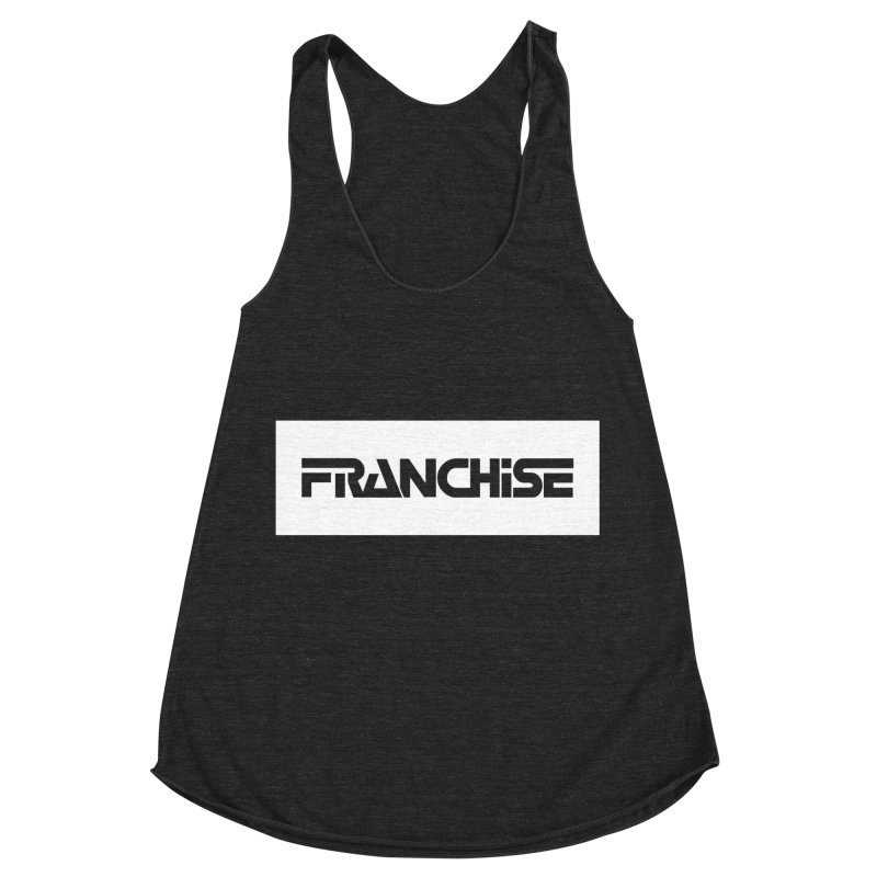 Franchise with White Border Women's Racerback Triblend Tank by Franchise Merchandise
