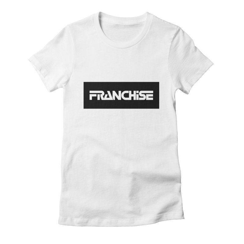 Franchise with Black Border Women's Fitted T-Shirt by Franchise Merchandise