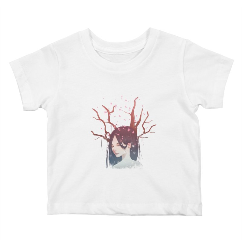 Spring Comes Again Kids Baby T-Shirt by Fran Shop