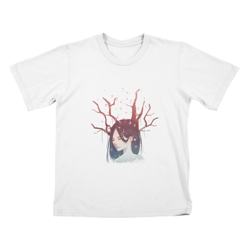 Spring Comes Again Kids T-Shirt by Fran Shop