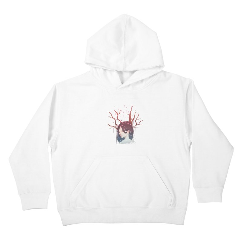 Spring Comes Again Kids Pullover Hoody by Fran Shop
