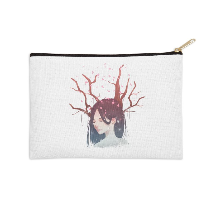 Spring Comes Again Accessories Zip Pouch by Fran Shop
