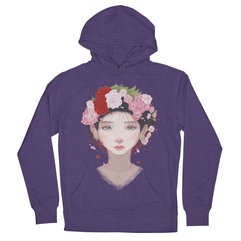 Pink Roses Women's Pullover Hoody by Fran Shop