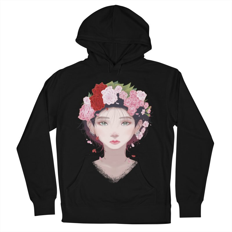 Pink Roses Men's Pullover Hoody by Fran Shop