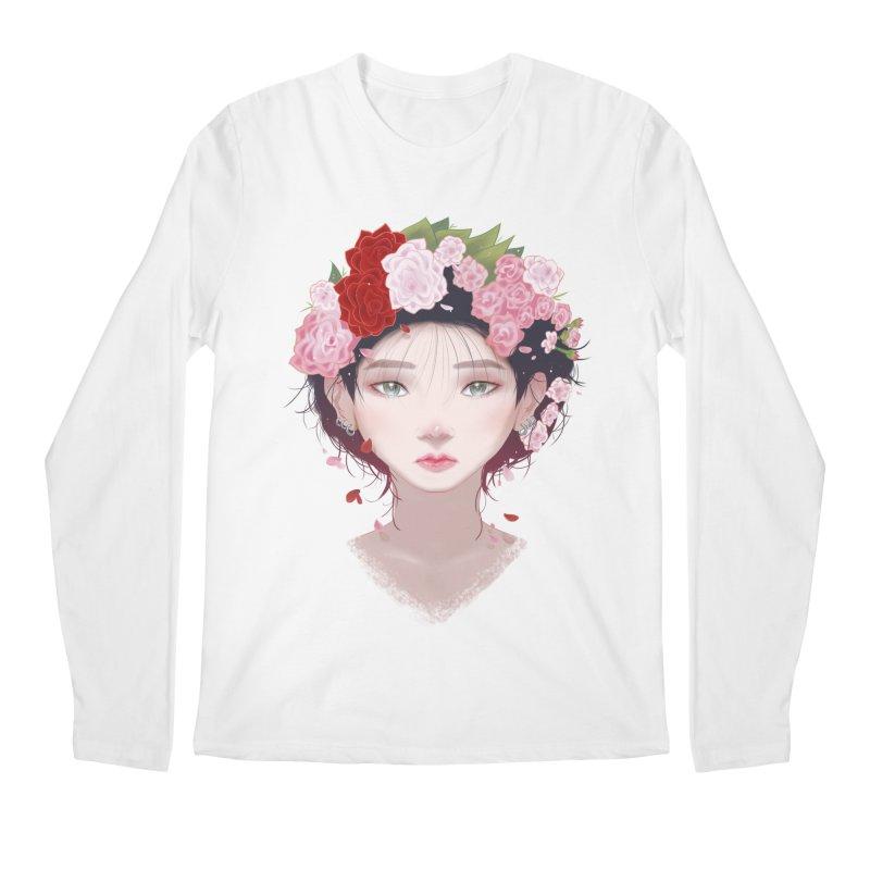 Pink Roses Men's Longsleeve T-Shirt by Fran Shop