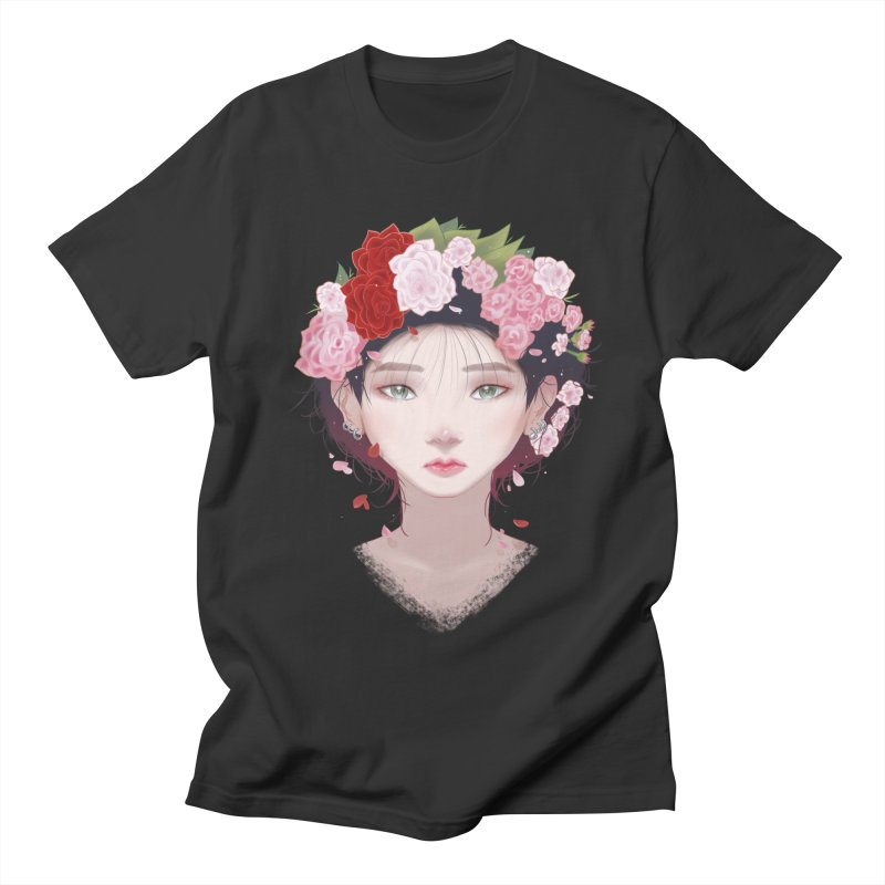 Pink Roses Women's Unisex T-Shirt by Fran Shop