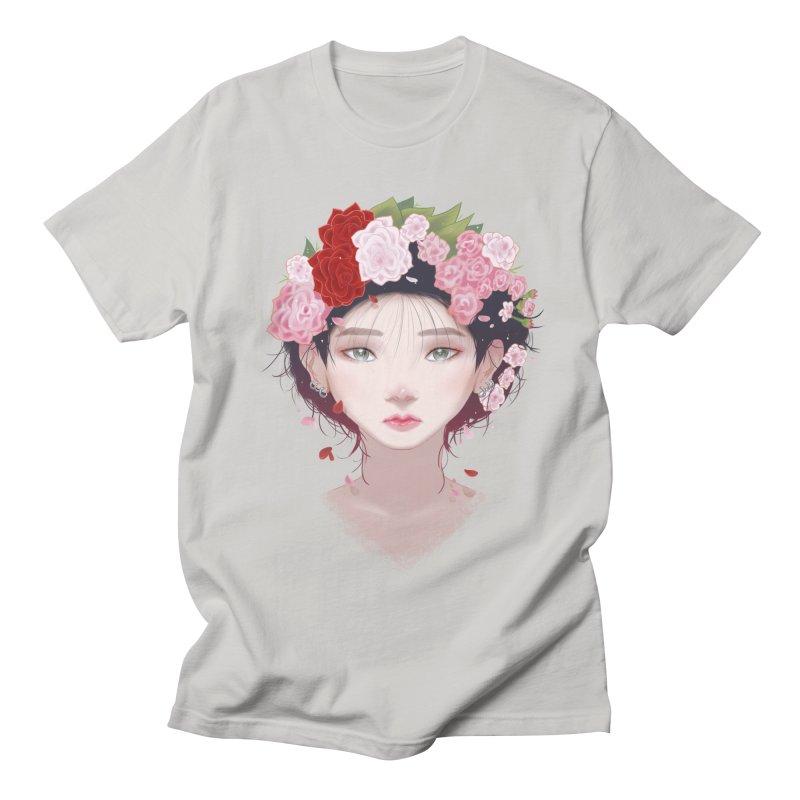 Pink Roses Men's T-Shirt by Fran Shop