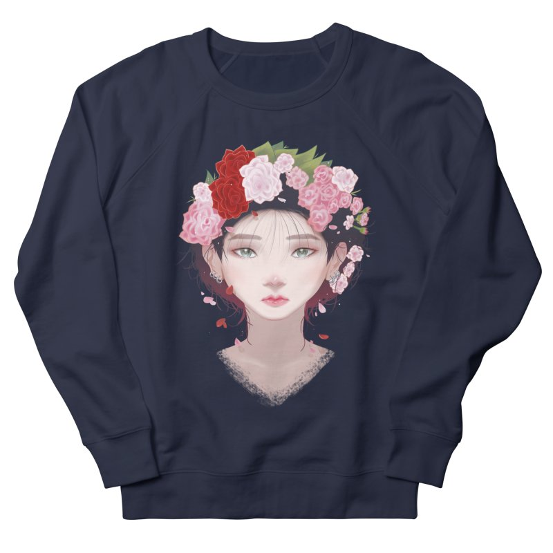 Pink Roses Women's Sweatshirt by Fran Shop