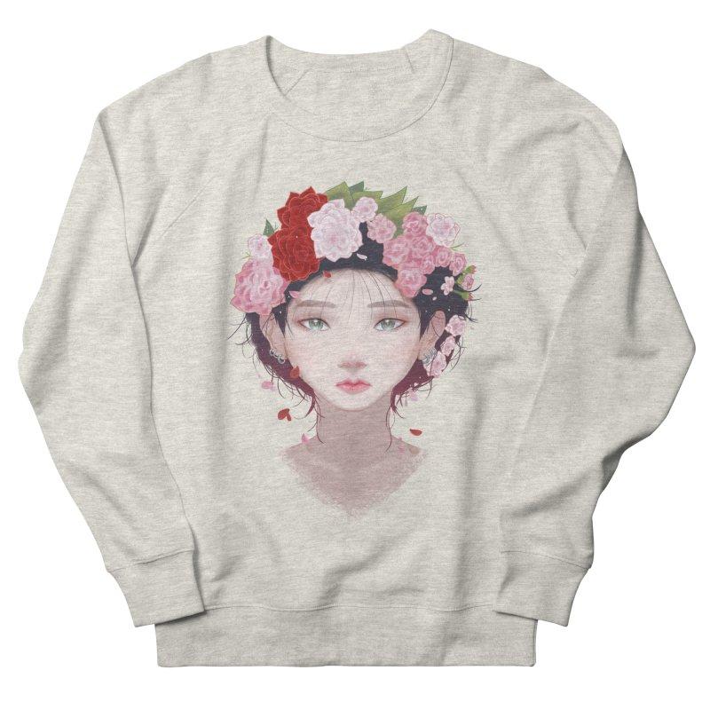 Pink Roses Women's Sweatshirt by Fran Shop