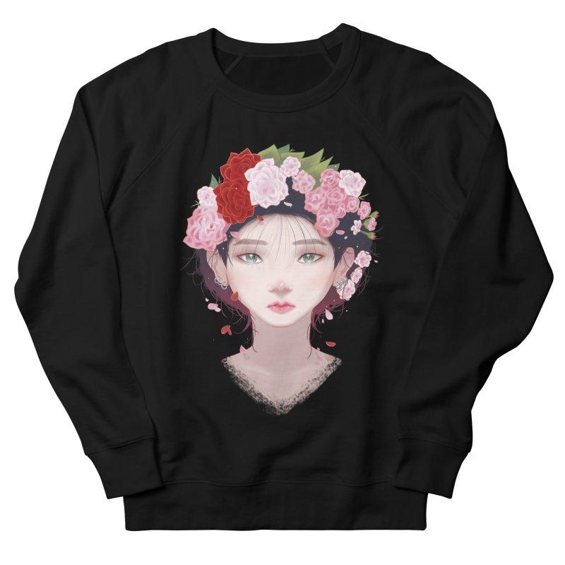 Pink Roses Men's Sweatshirt by Fran Shop