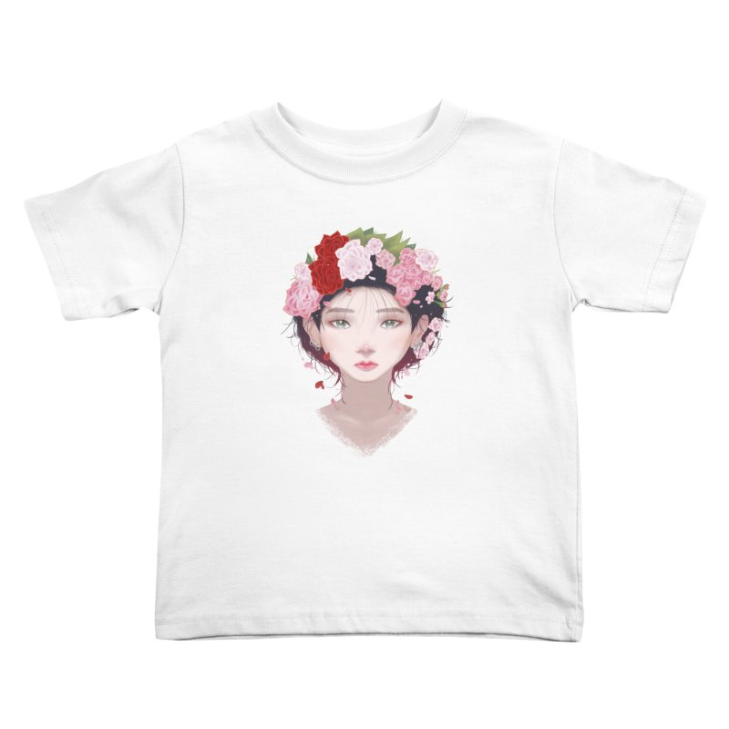 Pink Roses Kids Toddler T-Shirt by Fran Shop