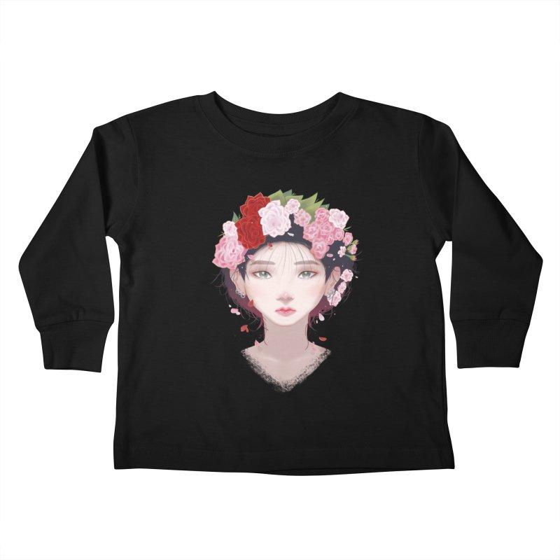 Pink Roses Kids Toddler Longsleeve T-Shirt by Fran Shop