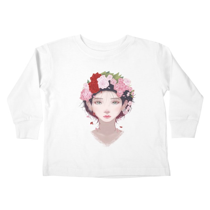 Pink Roses Kids Toddler Longsleeve T-Shirt by Fran Shop