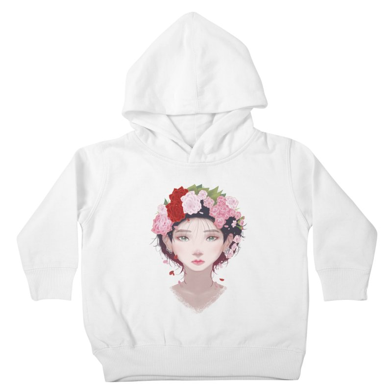 Pink Roses Kids Toddler Pullover Hoody by Fran Shop