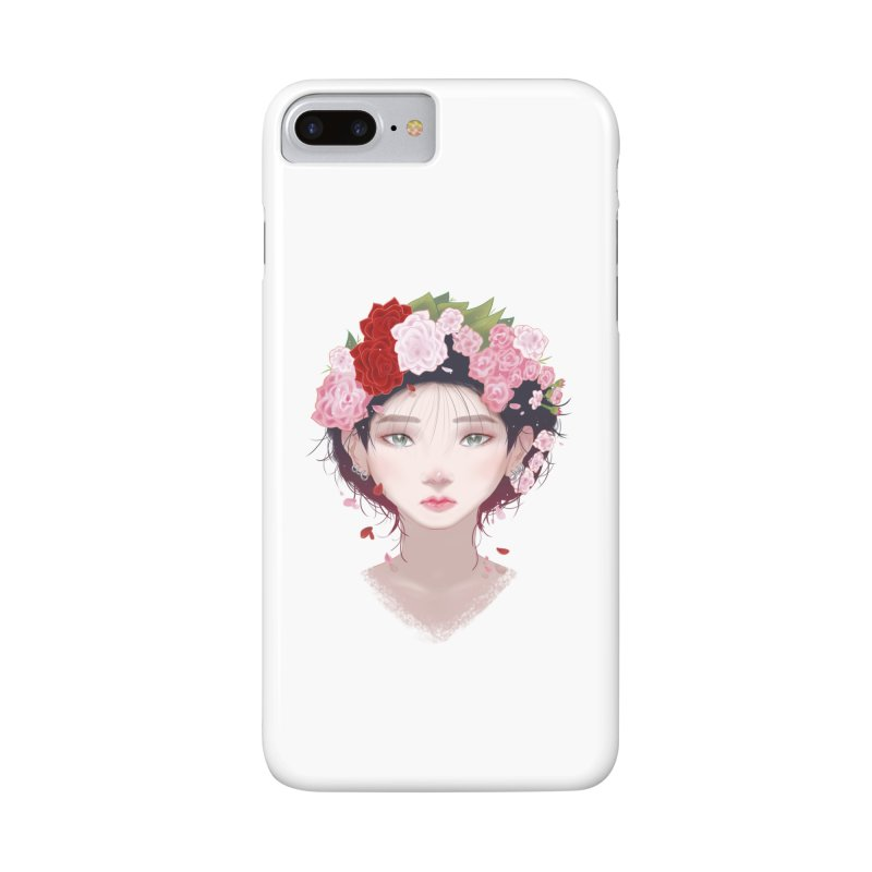 Pink Roses Accessories Phone Case by Fran Shop